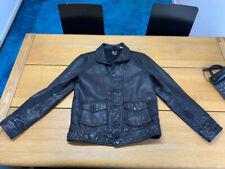 Levi's Vintage Clothing Cossack Menlo Black Leather Jacket M LVC 1930 Rare
