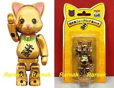 Medicom Be@rbrick 2017 NY@brick 100% Lucky Cat Gold NYbrick Bearbrick 1pc