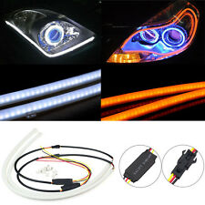 Flexible 2 x 60cm Car DRL LED Daytime Running Soft Tears Strips Steering Lights