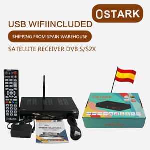 Receptor de satelite Ostark AS7 Pro DVB-S2/S2X Full HD 1080P USB WIFI incluido