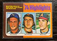 Nolan Ryan No Hitter '74 Highlights 1975 Topps #7 Angels **Corner Issues**