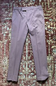 BNWOT GUCCI Turn Up Cotton Chino Trouser IT48 Light Coral RRP £480.00