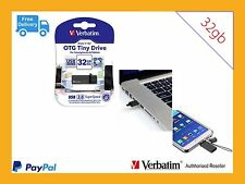 ($0 P&H) Verbatim Store'n'Go OTG Titanium USB 3.0 Flash Drive 32GB Black # 64497