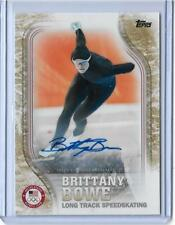 2018 TOPPS OLYMPICS BRITTANY BOWE SPEEDSKATING GOLD AUTOGRAPH AUTO CARD ~ /25