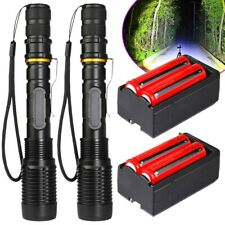 Tactical Police 90000Lumens T6 LED 5Modes 18650 Flashlight Aluminum Focus Torch