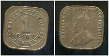 INDE ( STRAITS SETTLEMENTS ) british colony   1 one cent 1919 ( bis )