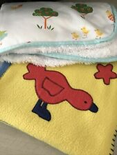 Baby Unisex Boy Girl Swaddle Square Blanket Bundle 2 In Total. Cot And Pram Size