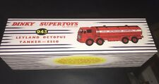 Atlas Edition DINKY SUPERTOYS Leylan Octopus Esso Tanker, Cert & pin badge...