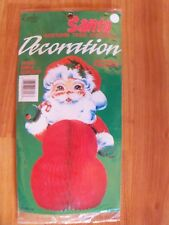 "Vintage Eureka 10"" Santa Honeycomb Christmas Centerpiece Decoration NIP"