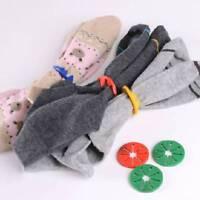 7Pcs Sock Rings Holders Stocking Clip Locks Washing Sorter Color Random
