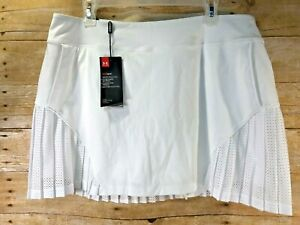 💗NWT💗 UNDER ARMOUR GOLF TENNIS SKORT WHITE LACE ACCENTS Women's Sz FITTED XL