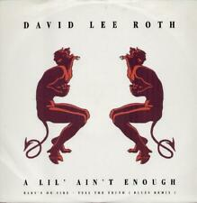 "DAVID LEE ROTH A Lil' Ain'T Enough  12"" Ps, 3 Tracks Inc Baby'S On Fire+Tell The"