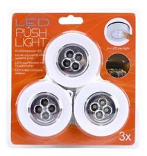 3 x LED Touch Lampe  Selbstklebend  Unterbau Schrank Leuchte Licht Beleuchtung