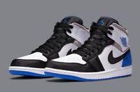 """Nike Air Jordan 1 Mid SE """"Union LA Royal Black Toe"""" Blue Size NEW 852542-102"""