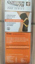 "Copper Fit Pro Series Unisex Compression Black Knee Sleeve L 17""-19"""