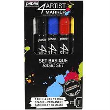 Pebeo 4Artist Marker Oil Based Glossy Permanent Paint Pen 4mm - Pack of 5 Basic