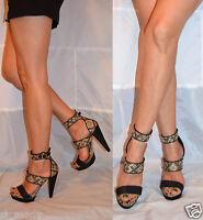 Women Aztec Sandals Ankle Straps High Heel Platform Next Size 6