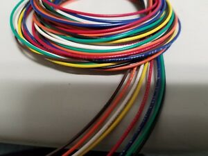 22 AWG Gauge Stranded Hook Up Wire Kit 5 ft Ea 8 Color UL1007 300 Volt