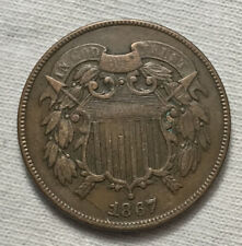 1867 2C  Shield Two Cents