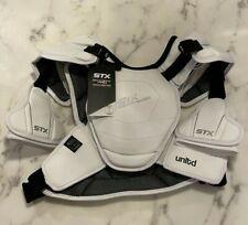 STX Shadow Pro White Lacrosse Shoulder Pad Medium - Legal for 2022 Rule Changes