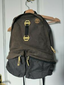 TIMBERLAND brown canvas backpack