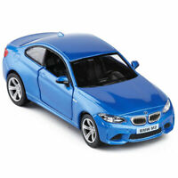 1:36 BMW M2 Die Cast Modellauto Auto Spielzeug Model Pull Back Kinder Blau