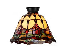 RED TULIP TIFFANY STYLE HANDCRAFTED LEADLIGHT BATTEN FIX  CEILING LIGHT DIY -NEW