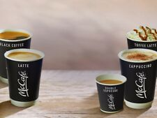 McDonalds Coffee 100 White Bean Stickers 15 CUPS loyalty voucher exp. 31/12/19