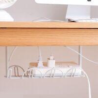 Table No-Drilling Wire Organizer Cable Rack Bracket Socket  Holder Hanging Shelf