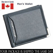 Luxury High Quality Mens Leather Bifold Wallet Credit Card Seller Canada