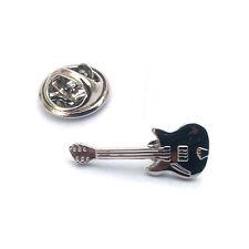 Silver Guitar Music Lapel Pin Badge Rock Band Guitars Musical Musician Gift New