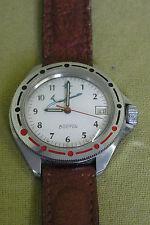 russische Armbanduhr - Vostok - Flieger - mit Datumsanzeige - Uhr läuft