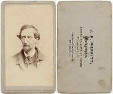 MAN WITH GREAT GOATEE BY MERRITT, PORTSMOUTH, OHIO, ANTIQUE CDV