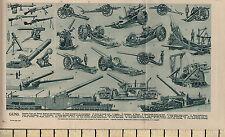 1932 Estampado ~ Armas ~ Varios Máquina Armas & Gabardina Morteros