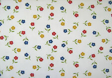 Red/Yellow/Blue Flower Polycotton Print Craft/Dress Fabric 112cm wide SOLD PER M