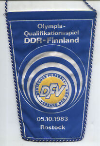 Wimpel Olympia-Qu. 05.10.1983 DDR - Finnland in Rostock