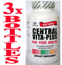 3 bottles A-Z Multi-Vitamin, minerals, Big Saving Over Centrum 3 x 300= 900 tabs