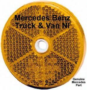 Mercedes Benz Truck & Van Round Amber Reflector,Genuine Mercedes Part,0005443505