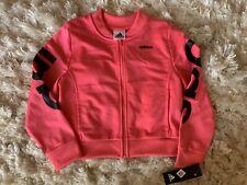 NWT Adidas Girls Pink Zippered Track Jacket Size 6x