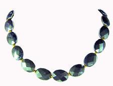Me permite, este collar es precioso de la piedra preciosa pirita en facetada oval form