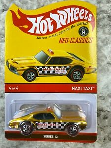 Hot Wheels Redline RLC Maxi Taxi Gold Olds 442 Toy Car Adult Collector 3909/4000