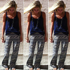 Womens Boho Baggy Harem Pants Hippie Wide Leg Gypsy Yoga Long Palazzo Trousers
