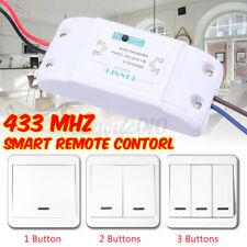 1 CH Light Switch Kit + 433MHz Universal Wireless Remote Control 86 Wall  z q ☌