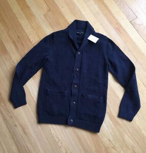 Banana Republic Mens Shawl Collar Heavy Cardigan Knit Sweater NWT SMALL SLIM FIT