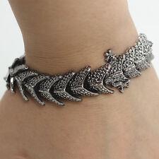 Stainless Steel Dragon Bracelet Chain Men's Rock Bangle Bike Jewelry Gift