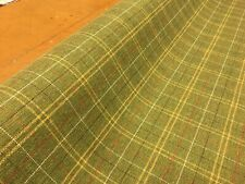 50% OFF! NEXT GREEN CHECK WEAVE UPHOLSTERY CURTAIN FABRIC MATERIAL SALE