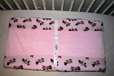 """32"""" CHANGING PAD COVER M/W MINNIE MOUSE & PINK MINKY DOT FLEECE FABRIC"""