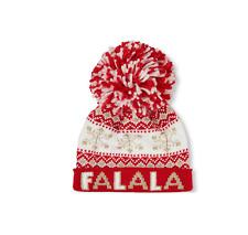 Toddler Girls 'FALALA'  Pom Pom Beanie Hat Set size S/M(4-7YR)