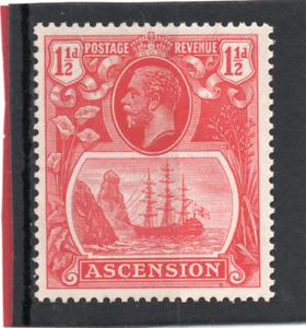 Ascension GV  1924-33  1.1/2d rose-red sg 12 VLH.Mint
