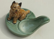 Vintage Wade Cairn terrier pipe stand  -  circa 1971-1983  dogs collectible